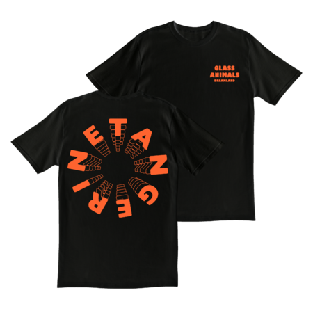 Glass Animals: BLACK TANGERINE T-SHIRT