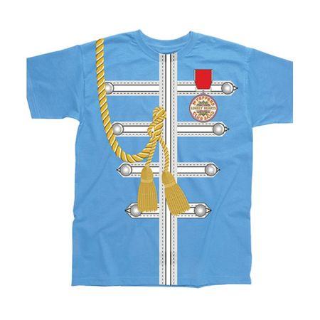 The Beatles: Blue Sgt Pepper Uniform Sublimation T-Shirt