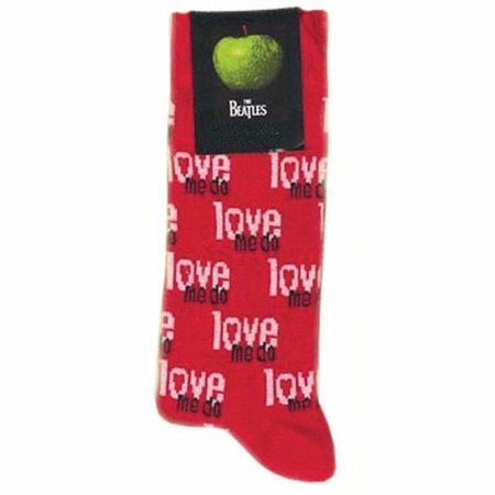 The Beatles: Love Me Do Mens Red Socks