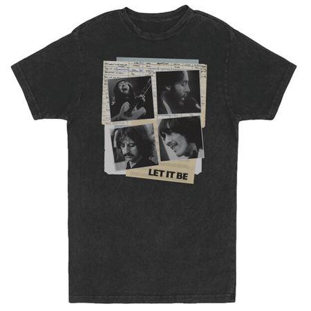 The Beatles: Let It Be Vintage Black T-Shirt