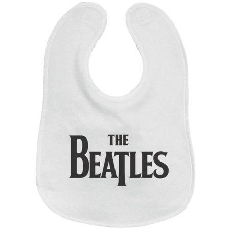 The Beatles: Drop T Logo Bib White