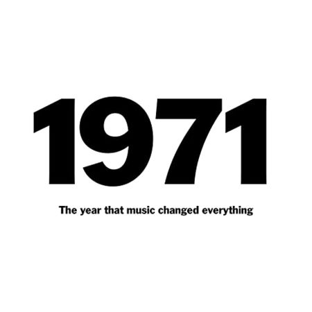 Various Artists: 1971: The Year That Music Changed Everything