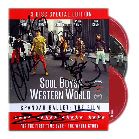 Spandau Ballet: SOUL BOYS OF THE WESTERN WORLD SIGNED 3-DISC BOXSET (Blu-ray)