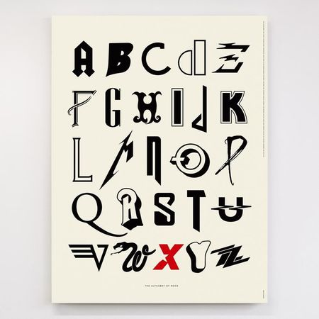 Dorothy: Alphabet of Rock Screen Print Poster