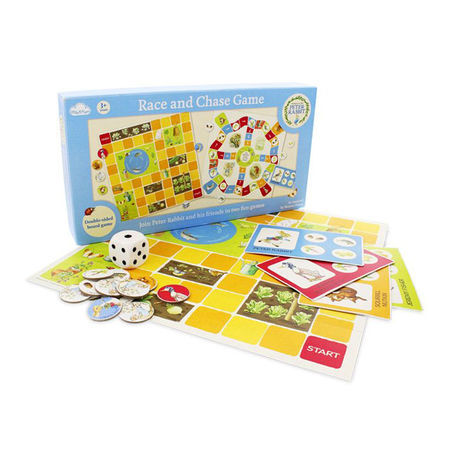 Peter Rabbit: Beatrix Potter Peter Rabbit Double Sided Race And Chase Game