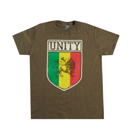 Bob Marley: Unity Heather Brown T-Shirt