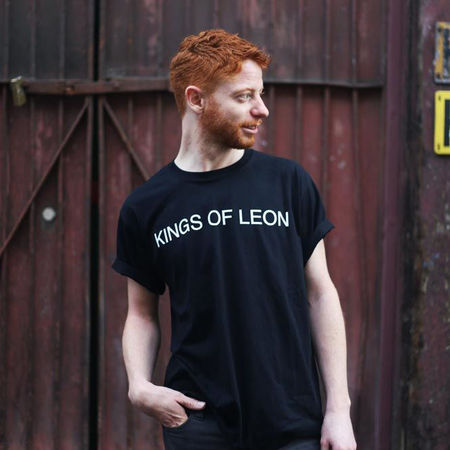 Kings Of Leon: Helvetica Black T-Shirt