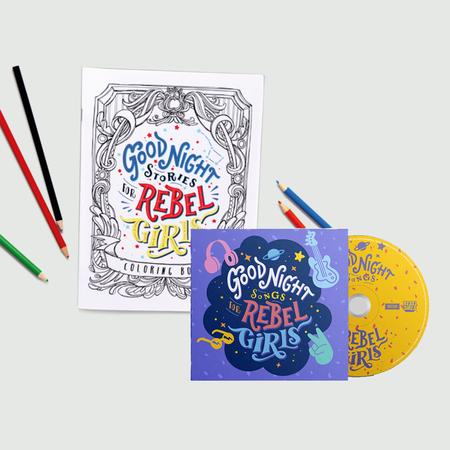 Rebel Girls: Goodnight Songs For Rebel Girls CD & Colouring book set bundle
