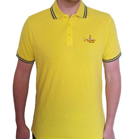 The Beatles: Unisex Polo Shirt: Yellow Submarine
