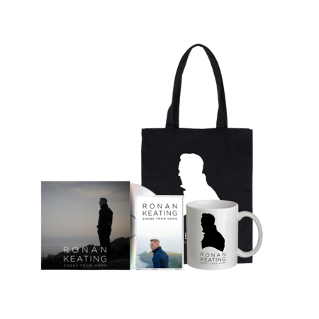 """Ronan Keating: Signed """"From Home"""" Version CD + Cassette + Tote + Mug"""