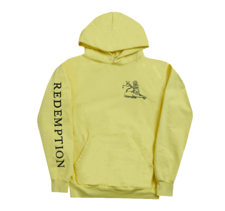 Bob Marley: Yellow Redemption Lion Pullover Hoodie