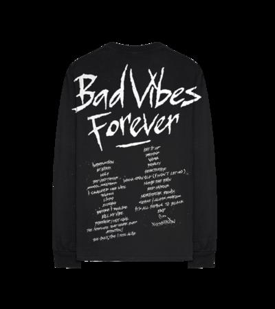 XXXtentacion: Bad Vibes Forever Black Longsleeve