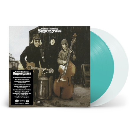 Supergrass: In It For The Money: Remastered Expanded Edition Turquoise Vinyl LP  & White Vinyl 12