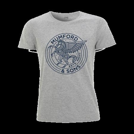 Mumford & Sons : Pegasus T-Shirt (Melange Grey)