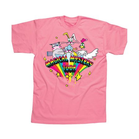 The Beatles: Magical Mystery Tour Childrens T-Shirt Baby Pink