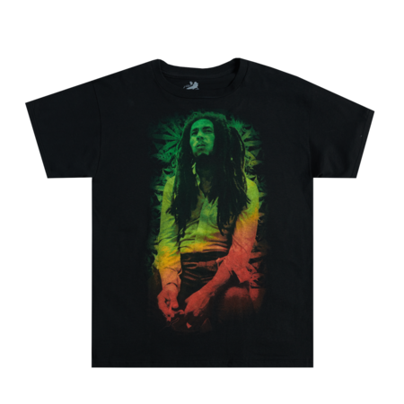 Bob Marley: Rasta Leave Black T-Shirt