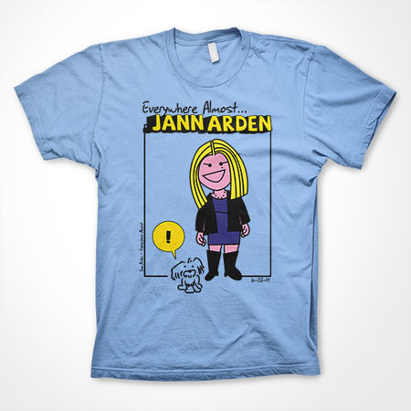 Jann Arden: Everywhere Almost Powder Blue Tour Tee - Large