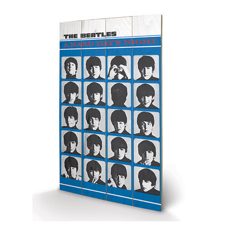The Beatles: The Beatles - A Hard Days Night Wooden Print Small