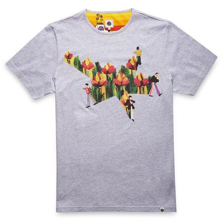 The Beatles: Yellow Submarine Floral Star Print T-Shirt