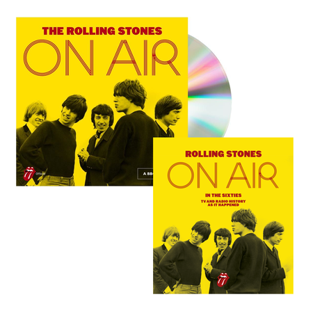 The Rolling Stones: On Air Deluxe CD & Hardback Book