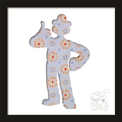 Wallace & Gromit: Wallace 'thumbs up' in the hallway Black Frame