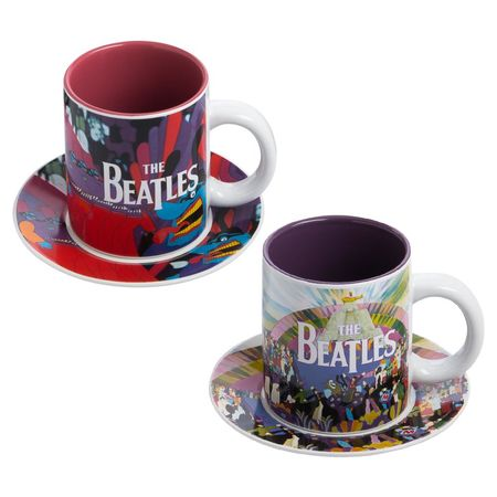 The Beatles: 4pc Ceramic Cup And Saucer Set