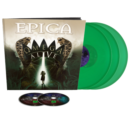 Epica: Omega Alive: Blu-Ray/DVD/3LP Earbook + SIGNED PHOTOCARD