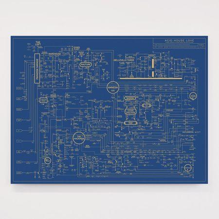 Dorothy: Acid House Love Blueprint - A History of Dance Music Screen Print Poster