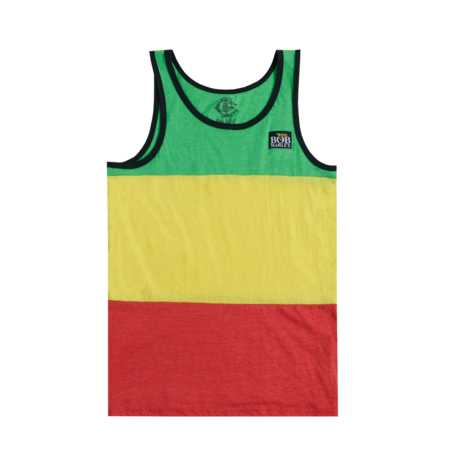 Bob Marley: Catch a Fire Rasta Stripe Tank Top