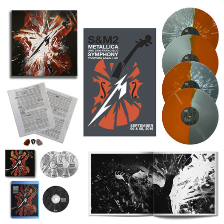Metallica: S&M2: Coloured Vinyl Box Set + Photobook, 2CD, Blu-Ray, Sheet Music, Guitar Picks, Poster + Exclusive 12x12