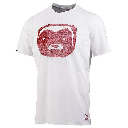 Professor Green: Honey Badger Ghost T-Shirt White + Chinese Red