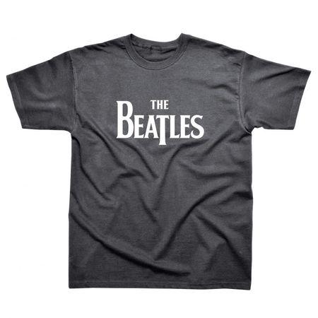 The Beatles: Beatles Drop T Logo T-Shirt Dark Heather
