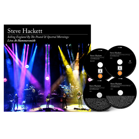 Steve Hackett: Selling England By The Pound & Spectral Mornings, Live At Hammersmith: Limited Deluxe 2CD + Blu-Ray + DVD Artbook