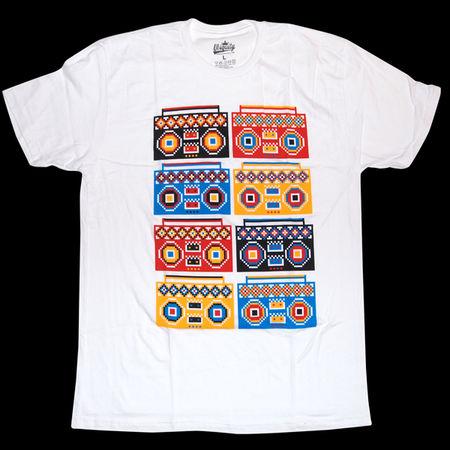 Ubiquity Records: Boombox Pattern T-Shirt