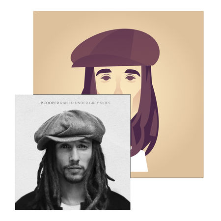 JP Cooper: Raised Under Grey Skies - Signed LP + Screenprint