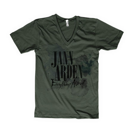 Jann Arden: Jann Arden - Everything Almost Green Tour V-Neck Tee - Large