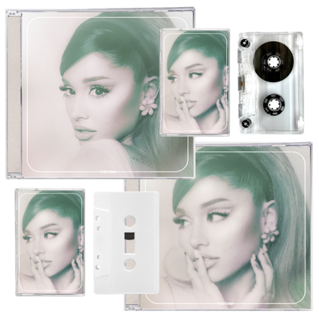 Ariana Grande: positions: standard cd, exclusive cd, frosted white cassette + clear cassette