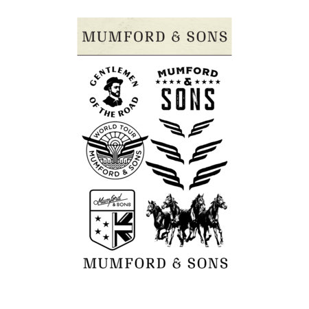 Mumford & Sons : Mumford & Sons Temporary Tattoo Pack