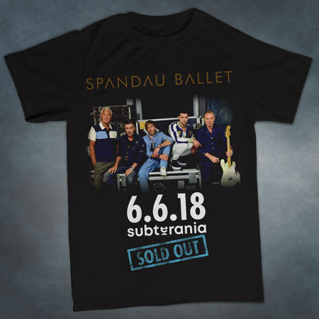 Spandau Ballet: Subterania 'Sold Out' Exclusive Gig T-Shirt
