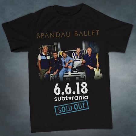Spandau Ballet: Subterania 'Sold Out' Exclusive Gig T-Shirt