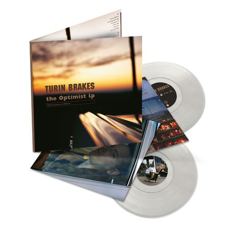 Turin Brakes: The Optimist LP: Recordstore Exclusive Deluxe Edition Clear Vinyl 2LP + Signed Print