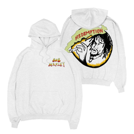 Bob Marley: Rasta Records White Hoodie