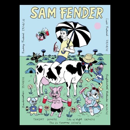 Sam Fender: 2021 Tour Poster