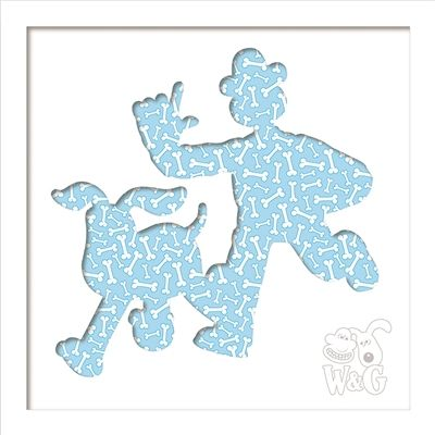 Wallace & Gromit: Wallace & Gromit Bones White Frame