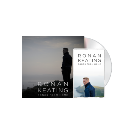 """Ronan Keating: Signed """"From Home"""" Version CD and cassette"""