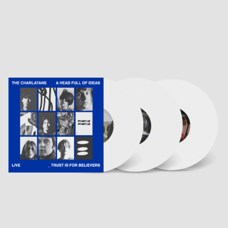 The Charlatans: A Head Full Of Ideas: Limited Edition Opaque White Vinyl 3LP + Signed Art Print