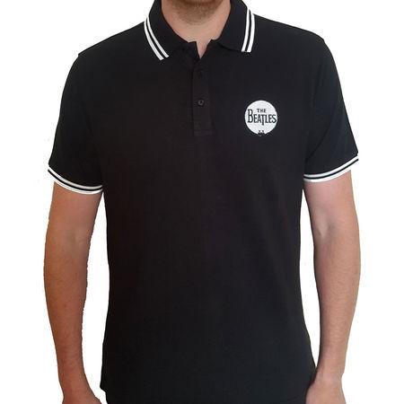 The Beatles: Unisex Polo Shirt: Drum Logo