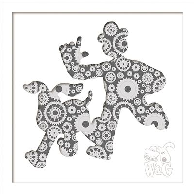 Wallace & Gromit: Wallace & Gromit Inventor Gone Mad White Frame