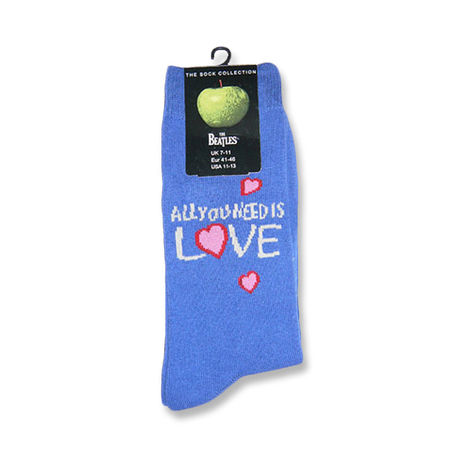 The Beatles: All You Need Is Love Men's Blue Socks
