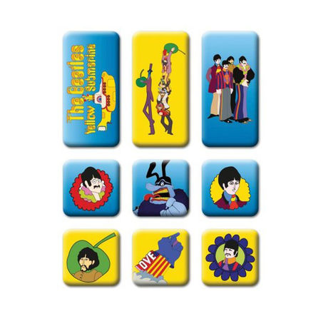 The Beatles: The Beatles Fridge Magnet Set: Yellow Submarine